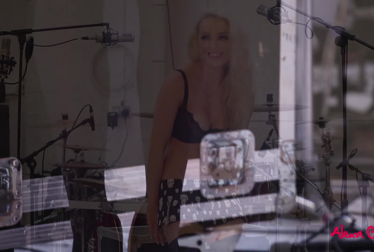 Alexa BTS - Strips by the Drumset