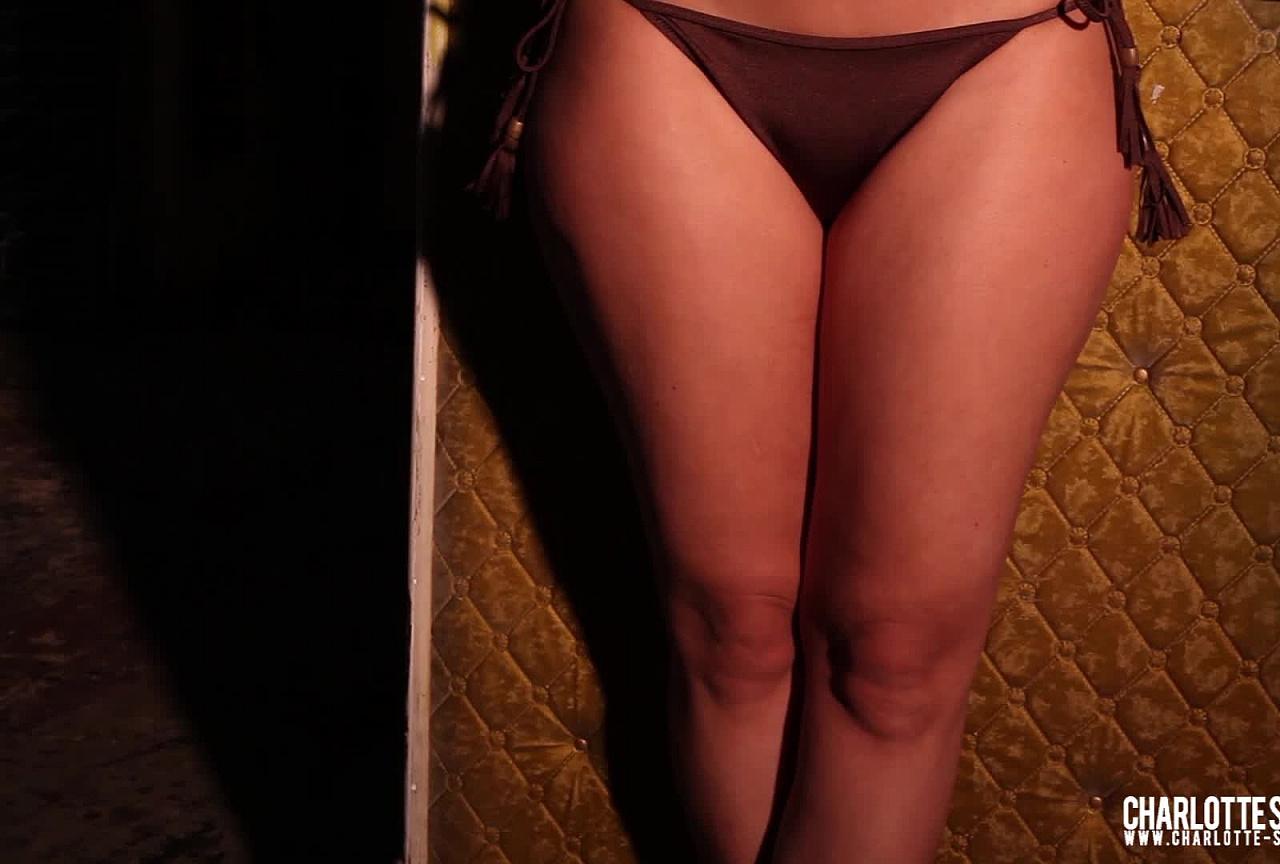 Charley Tease - Sexy Brown Bikini