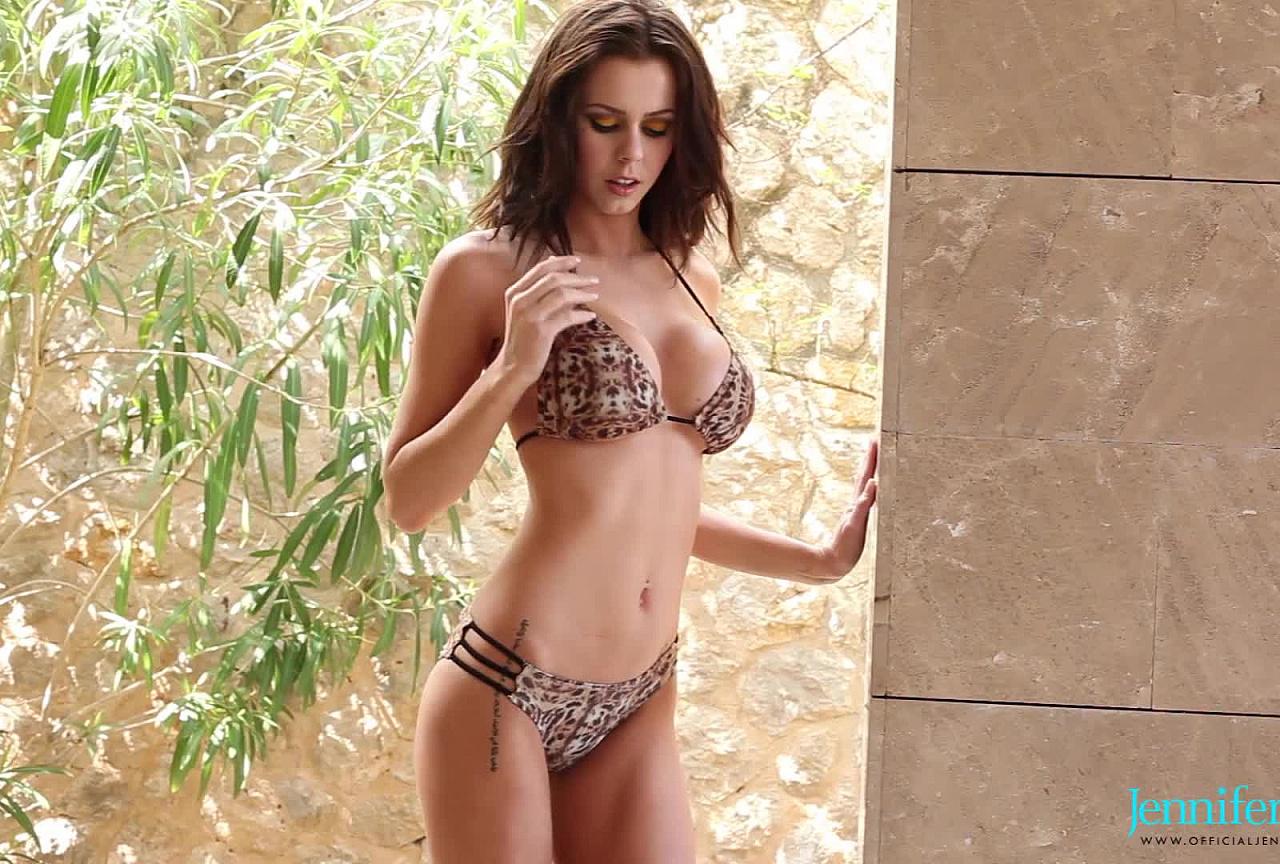 Jennifer BTS - Sexy Brown Bikini