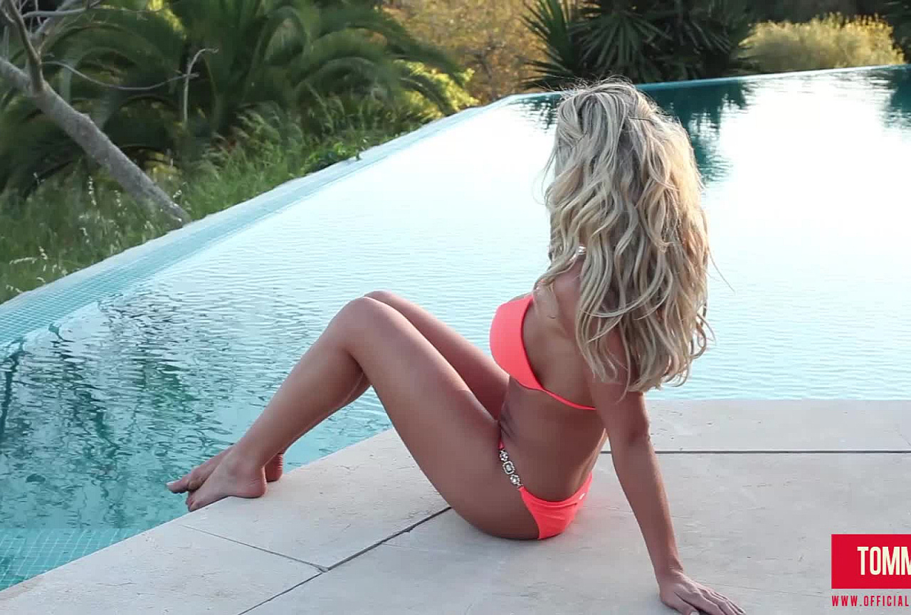 Tommie BTS - Peach Bikini By The Pool