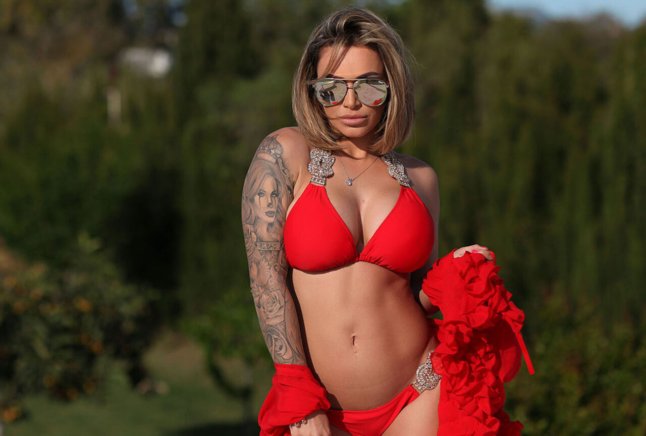 Gemma Massey in Red Bikini