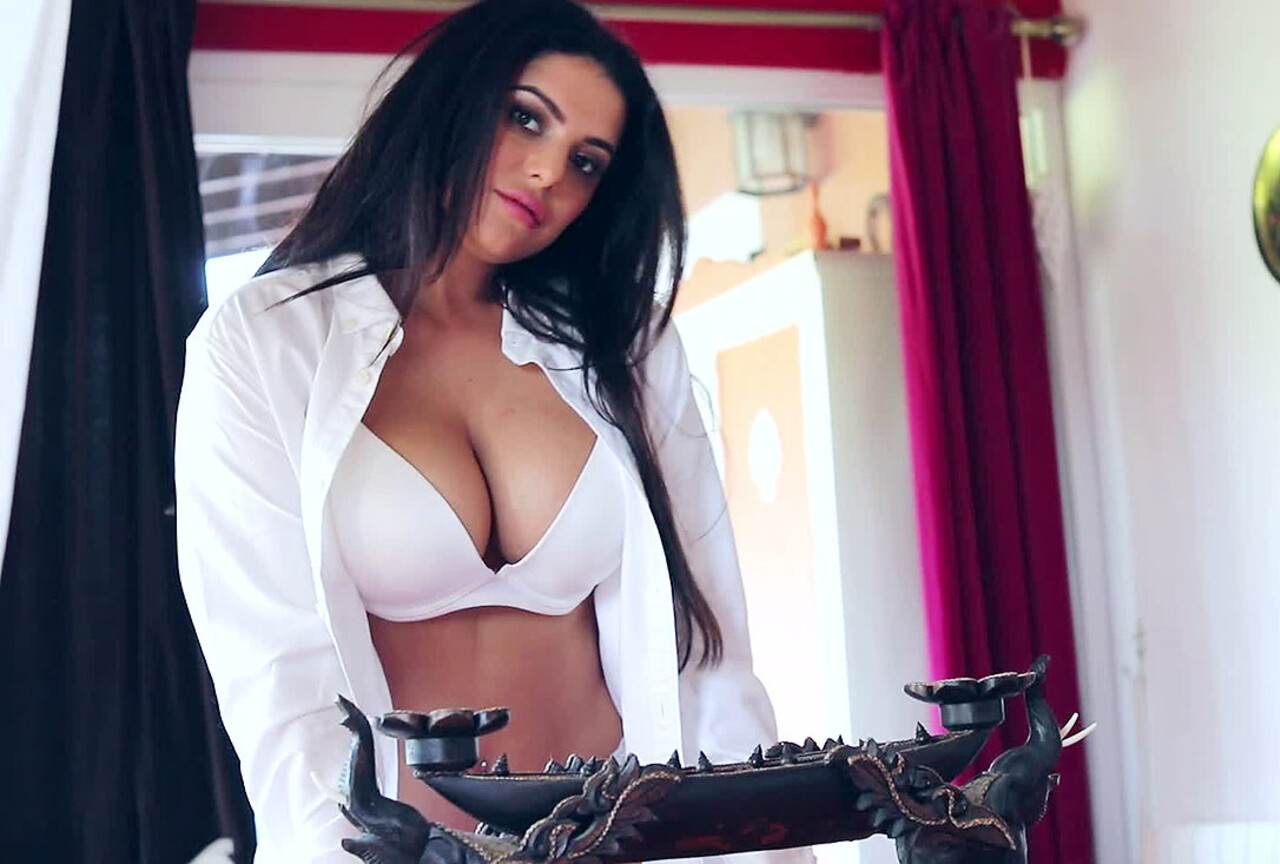 Charley in Her Sexy White Shirts & Lingerie