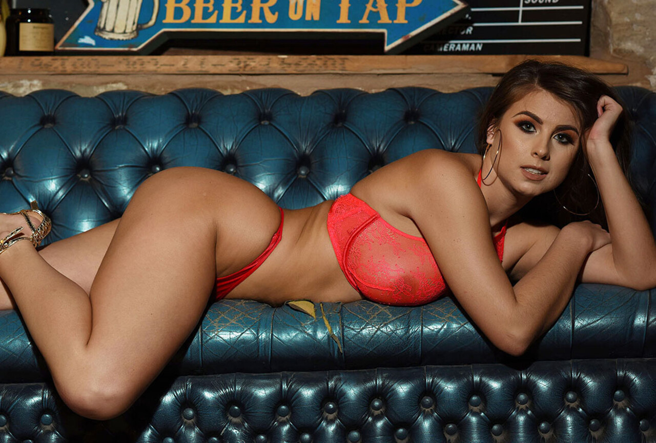 Sarah McDonald Teasing on the Couch