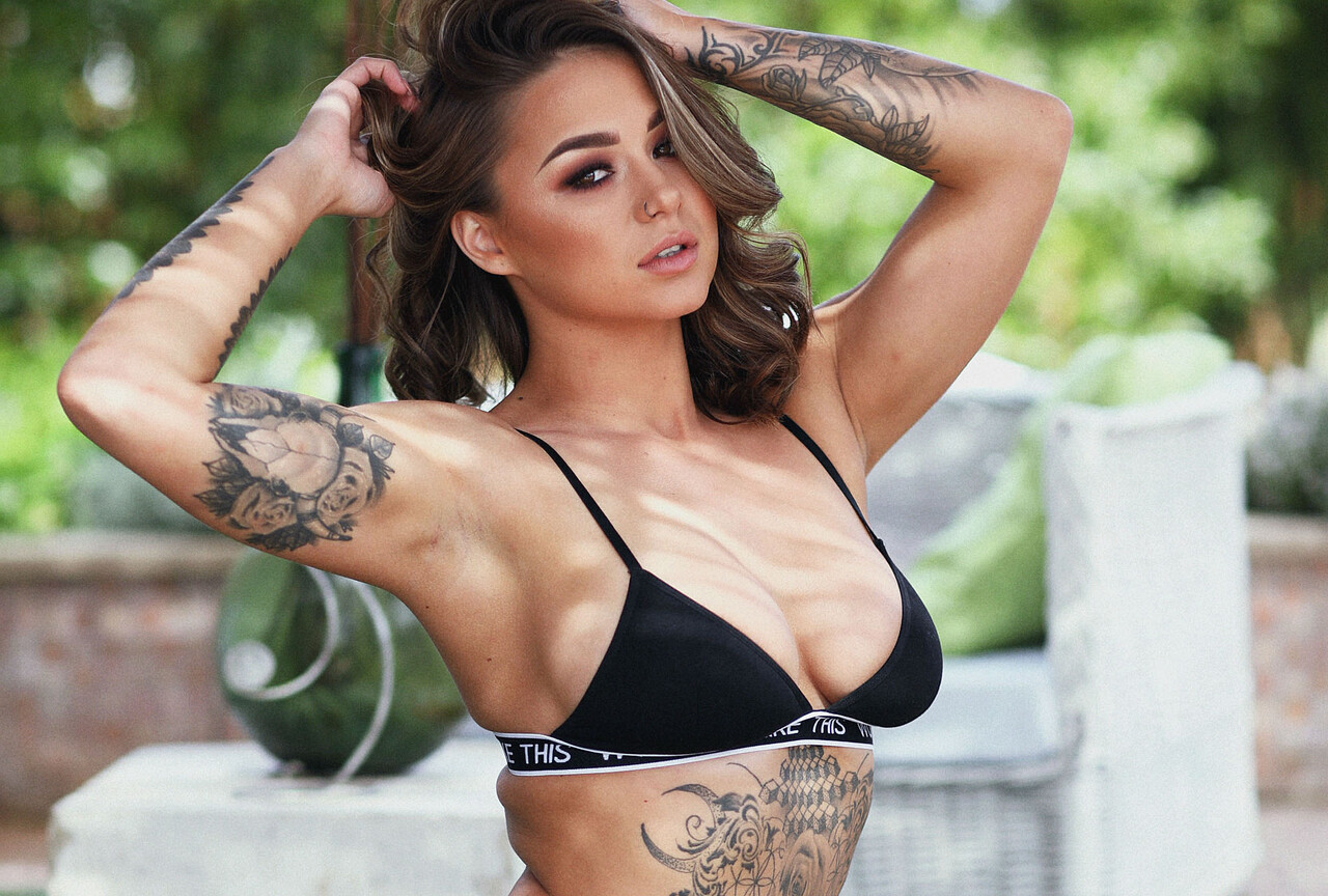 Mica Martinez Shooting in Black Underwear