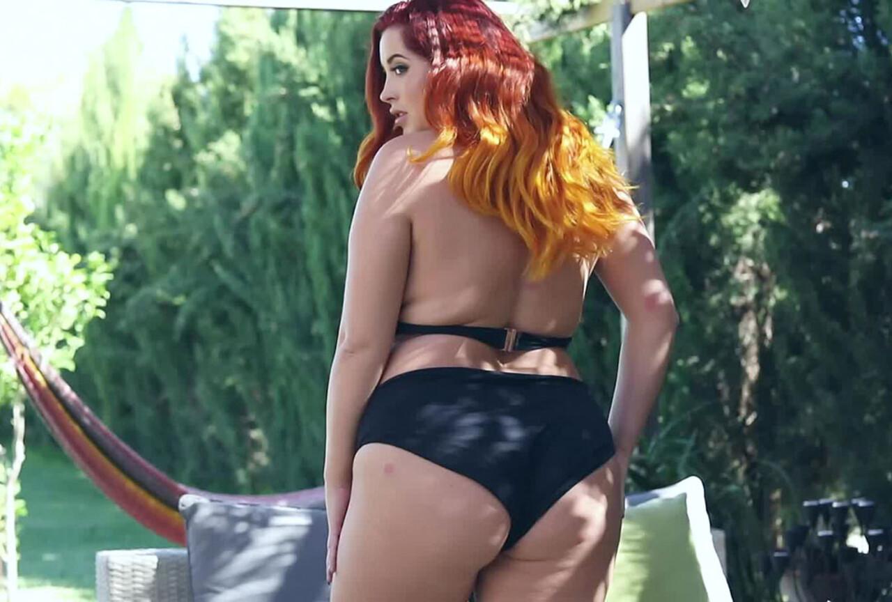 Lucy Vixen Teasing in Sexy Black Lingerie