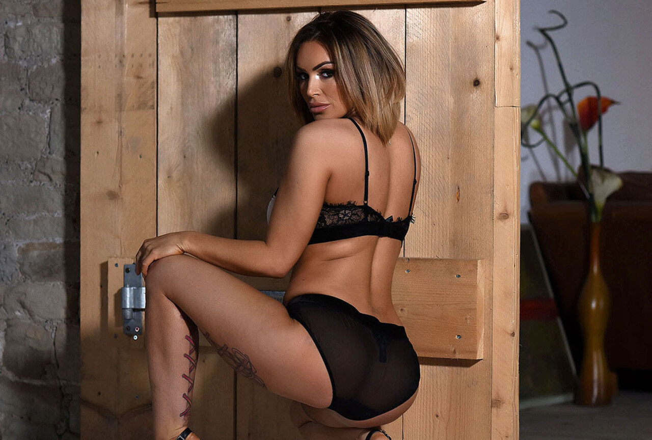 Gemma Shooting in Her Lingerie