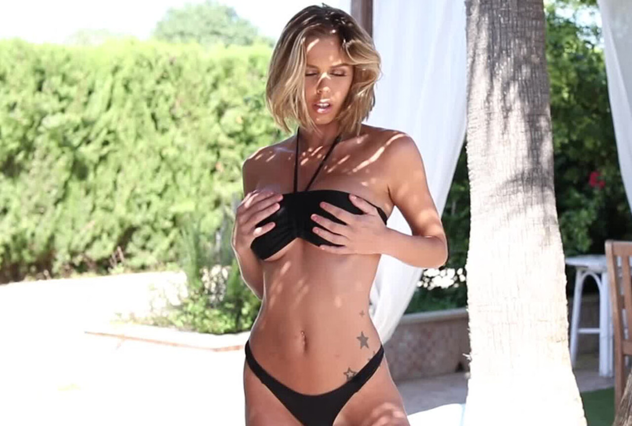 Jennifer Ann in Black Bikini