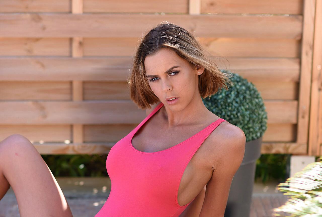 Jennifer Takes Off Her Pink Bodysuit