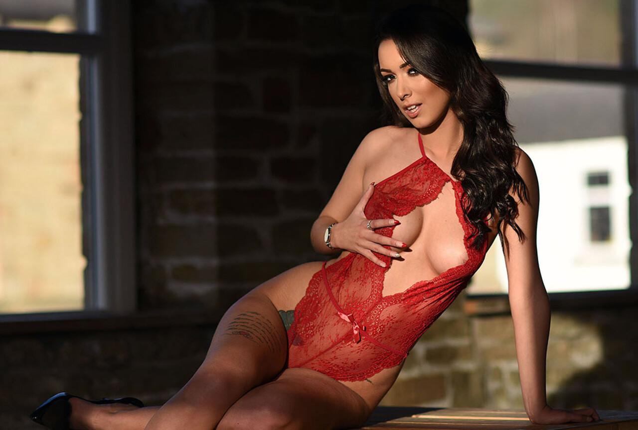 Lauren Shooting in Sexy See Through Bodysuit
