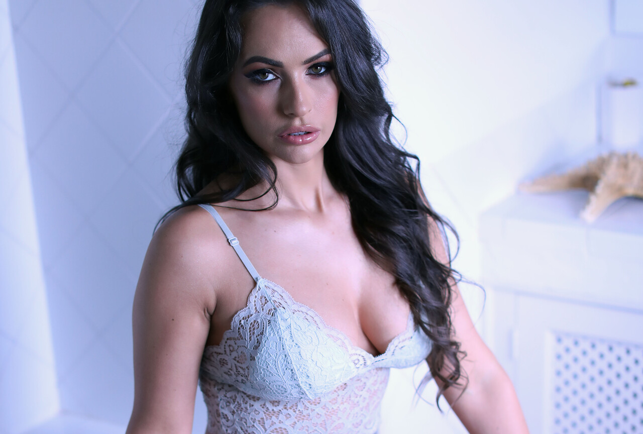 Annie in White Lingerie