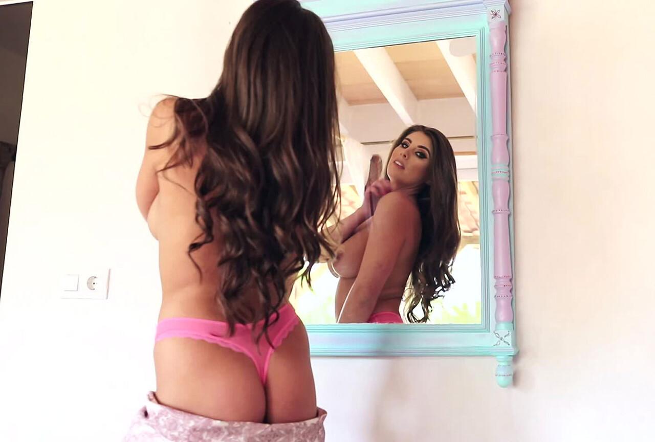 Sarah McDonald Teasing In Front of The Mirror