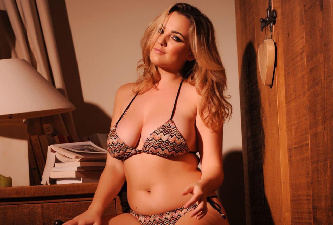 Jodie strips in bedroom